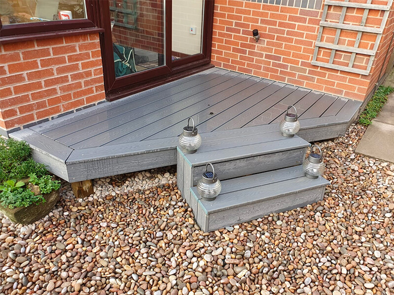 Composite decking fitted for Wrexham client