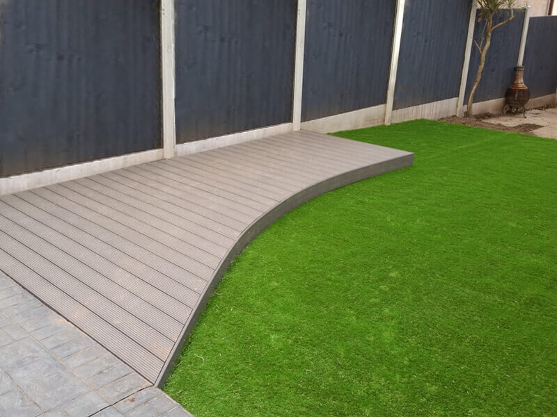 Composite wood decking boards